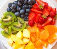 Fruits d'arc-en-ciel Photos stock