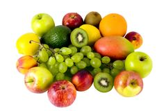 Fruits d'isolement Images stock