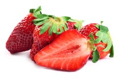 Fruits d'isolement - fraises Image stock