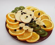 Fruits d'un plat photos stock
