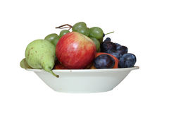 Fruits d'un plat Photo stock