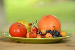 Fruits d'un plat Photo libre de droits