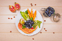 Fruits d'un plat Image stock