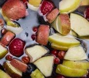 Fruits dans l'eau Images libres de droits