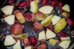 Fruits dans l'eau Images stock