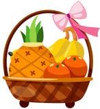 Fruits dans le panier Photographie stock libre de droits