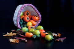 Fruits dans le panier Photo libre de droits