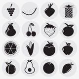 Fruits dans le style de bande dessinée, Photos stock