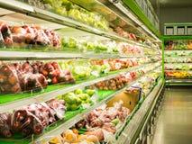 Fruits dans le supermarché Photo stock