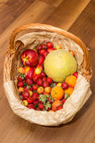 Fruits dans un panier Photos stock