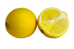 Fruits de citron d'isolement Images libres de droits