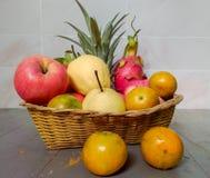 Fruits de groupe Image libre de droits
