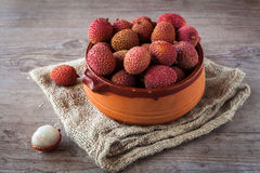 fruits de litchi Photos stock