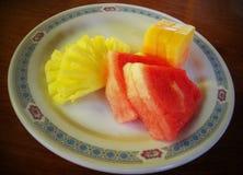 Fruits de mélange pour le petit déjeuner sain Images stock