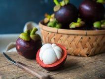 Fruits de mangoustan Photographie stock