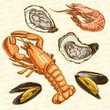 Fruits de mer illustration de vecteur