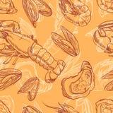 Fruits de mer - 2 illustration stock