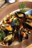 Fruits de mer avec la liqueur de cerise Photo stock