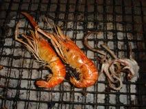 Fruits de mer avec le calmar, crevette Photo stock