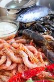 Fruits de mer crus frais Images libres de droits