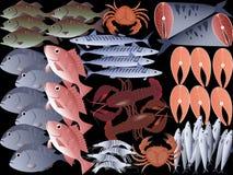 Fruits de mer d'american national standard de poissons Image stock