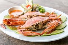 fruits de mer de crabe de vapeur photo stock