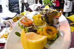 Fruits de mer de dîner en Belgique photos libres de droits