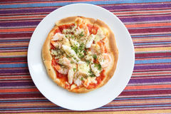 Fruits de mer de pizza Photo libre de droits