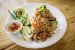 fruits de mer de riz frit Photo stock