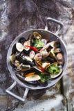 Fruits de mer de soupe images libres de droits