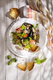 Fruits de mer de soupe images stock