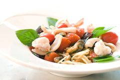 Fruits de mer de spaghetti Photo stock