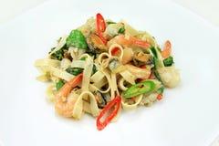 Fruits de mer de spaghetti Image stock