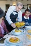Fruits de mer espagnols traditionnels de Paella Photos libres de droits