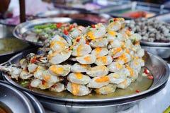 Fruits de mer frais au marché Photo libre de droits