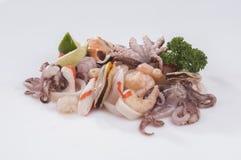 Fruits de mer frais de mélange Photo libre de droits