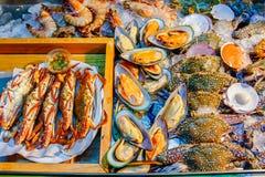 Fruits de mer frais de mélange Photos libres de droits