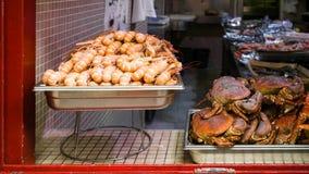 fruits de mer frais locaux dans la ville de Treguier Photo stock