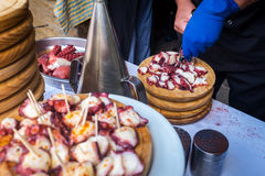 Fruits de mer galiciens traditionnels Photo stock