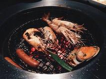 fruits de mer grillés photographie stock libre de droits