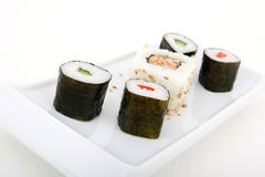 Fruits de mer japonais de sushi Photos libres de droits
