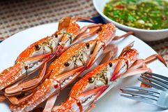 Fruits de mer locaux bouillis par crabe Photos stock