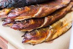 Fruits de mer, poisson de truite grillé au barbecue Photos stock