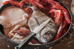 Fruits de mer préparés Images libres de droits