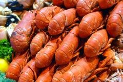 Fruits de mer sur le marché de mer Photographie stock