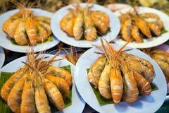 Fruits de mer thaïlandais de stalle du marché Photographie stock libre de droits