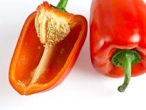 Fruits de paprika se trouvant sur une table légère photo stock
