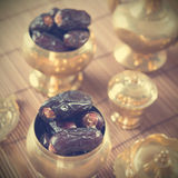 Fruits de paume de datte sèche, kurma Image libre de droits