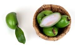 Fruits de schomburgkiana de Garcinia Photos stock