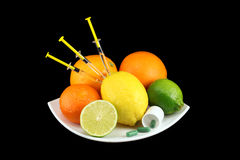 Fruits de vitamine C Photo libre de droits